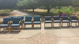 10 Blue Used Chairs very Comfortable look New work Amazing