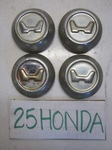 Honda Civic Cvcc Oem Center Caps Civic Usdm Rare Z n600 1975 1979 Sb1 Sg Sh Se