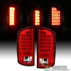 2002 2006 Dodge Ram 1500 2500 3500 Red Lumileds Led Tail Lights Brake Lamps Pair