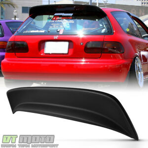 For 1992 1995 Honda Civic Hatchback Bys Style Abs Trunk Spoiler Wing Paintable