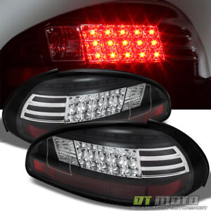 1997 2003 Pontiac Grand Prix Black Led Tail Lights Brake Lamps Pair Left Right