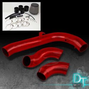Stainless Washable Cone Filter Cold Air Intake Fit 97 98 240sx S14 Red Aluminum