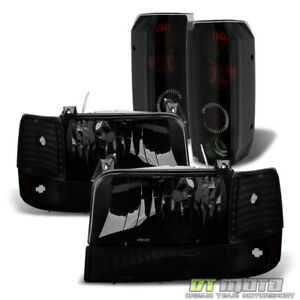 For 1992 1996 Ford Bronco F150 F250 F350 Headlights Bumper Lamps Tail Lights Set