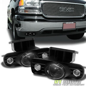 Smoked 99 02 Gmc Sierra 00 06 Yukon Projector Fog Lights Lamps Left Right Pair