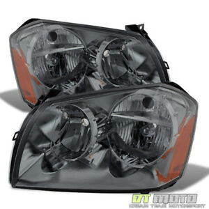 Smoked 2005 2006 2007 Dodge Magnum Headlights Headlamps Replacement Left right
