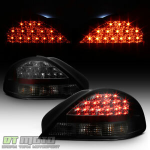 Black Smoke 1999 2005 Pontiac Grand Am Lumileds Led Tail Lights Lamps Left right