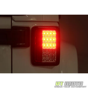 Smoked 2007 2017 Jeep Wrangler Lumileds Led Tail Lights Lamps Left Right