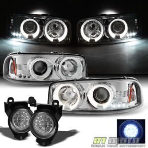 2001 2006 Gmc Yukon Denali Sierra C3 Halo Projector Headlights led Fog Lights