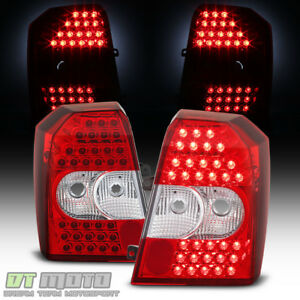 2007 2012 Dodge Caliber Red Clear Led Tail Lights Brake Lamps Left right 07 12