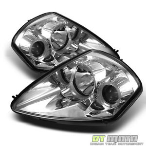 Fits Clear 00 05 Mitsubishi Eclipse Halo Projector Headlights Lamps Lights L r