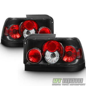 For Black 1993 1997 Toyota Corolla Ae111 Tail Lights Brake Lamps Pair Left right