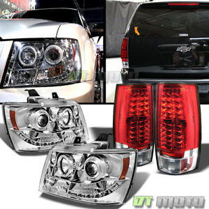 07 14 Chevy Suburban Tahoe Led Projector Headlights Led Tail Red Lamp L r