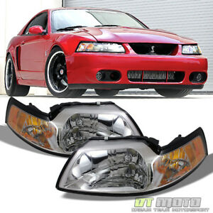 1999 2000 2001 2002 2003 2004 Ford Mustang Headlights Headlamps Left Right 99 04