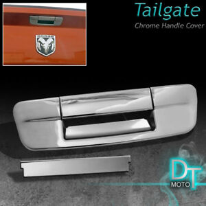 2009 17 Dodge Ram 1500 2500 Tailgate Trunk Door Handle Cover Chrome No Key Hold