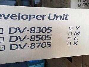 Dv8705y Yellow Developer Unit For Taskalfa 6550ci 302k993103