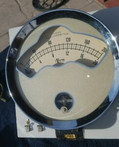 Vintage Large Victor X ray Milli ammeter Gauge 8 5 Inch Dia Ultimate Steampunk