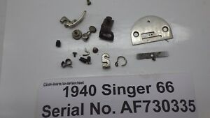 Vintage Original 1940 Singer 66 Sewing Machine Needle Plate Foot Feed Dog Plus