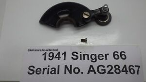 Vintage Original 1941 Singer 66 Sewing Machine Bobbin Winder W Belt Guard