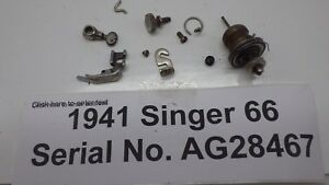 Vintage Original 1941 Singer 66 Sewing Machine Thread Tension Foot Needle Clamp