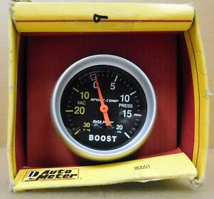 Auto Meter 3301 Sport Comp Boost Vac Gauge 2 5 8 Dia Mechanical