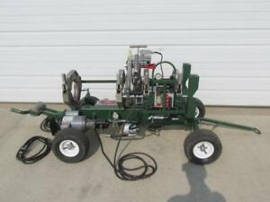 Mcelroy 28 Plastic Pipe Fusion Machine Cart With Facer Heater Plate Very Nice