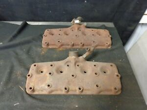 1937 Ford Flathead V8 60 Hp Cylinder Heads Cast Iron Pair