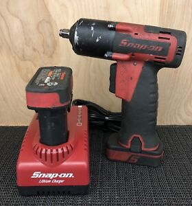 Snap on Ct761 14 4v Cordless 3 8 Impact Wrench Kit 2 Batteries
