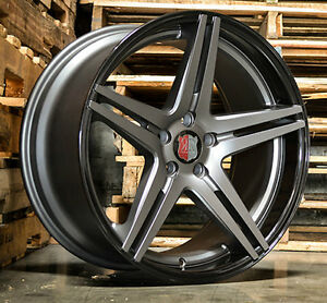 20 Roderick Rw7 Concave Staggered Wheels For Nissan 350z 370z Rims Set