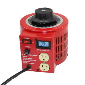 Bench Top 20 Amp Variac Variable Auto transformer With Lcd Digital Display