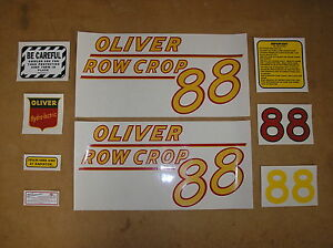 Oliver 88 Row Crop New Decal Set For Tractors 18 5 75