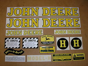 John Deere H New Decal Set For Tractors Bmtp11 79