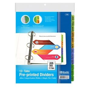 Three Ring Binder Dividers Index Colored Binder Dividers With Tabs