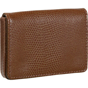 Budd Leather Business Card Case Oversized Cognac Business Accessorie New