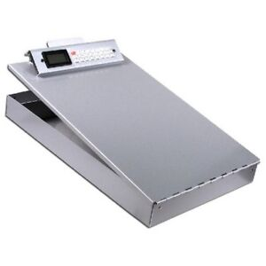 Saunders 11025 Aluminum Storage Clipboard W calculator Size 2 8 X 9 X 14 5