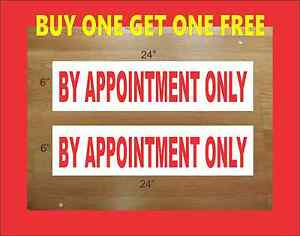 By Appointment Only 6 x24 Real Estate Rider Signs Buy 1 Get 1 Free Double Sided