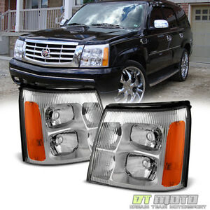 2002 Cadillac Escalade Base Ext Replacement Headlights Headlamps Left Right 02