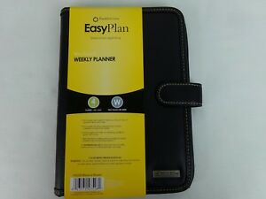 Franklin Covey Easy Plan Wire Bound Black Weekly Planner Size 4 Snap Closure