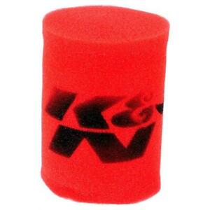 K N 25 1770 Airforce Air Filter Foam Wrap 6in Tall Red