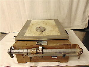 Triner Scales Model 303 Soiltest Equipment With Weight Hanger 2 Weights S3541
