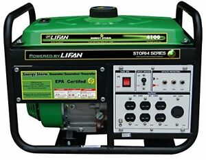 Lifan 4100w Energy Storm Gas Powered Portable Generator Recoil Start es4100