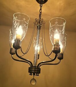 Vintage Lighting Two Extraordinary 1940s Chandeliers By Lightolier