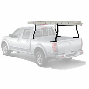650 Lb 2 Bar Adjustable Truck Ladder Rack Pick Up Universal Lumber Kayak Utility