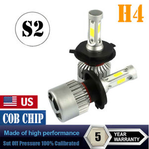 Pair Cob H4 Hb2 9003 1800w 225000lm Led Headlights Kit Hi Lo Power Bulbs 6000k