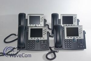 Lot Of 4 Cisco Cp 7965g Sip Phones Color 5 inch Tft Display Voip Used
