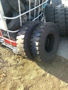 two Tires 700x12 Tires 5 Recycled Used Solid Forklift Tires Clean