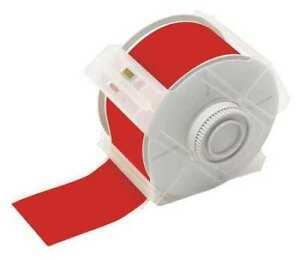 Brady 113120 Label Tape Cartridge Red Labels roll Continuous