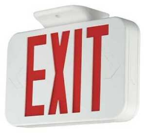 Hubbell Lighting Compass Thermo Exit Sign Battery Backup