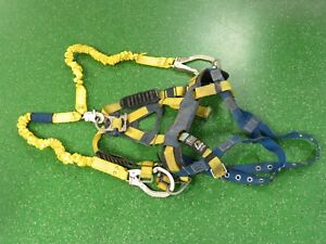 Dbi Sala Full Body Fall Protection Harness With Shock Wave 2 Lanyard 1101654 med