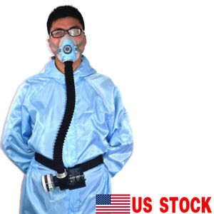 Us Electric Constant Flow Supplied Air Fed Half Face Gas Mask Respirator System