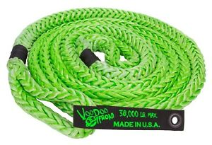 Voodoo Kinetic Recovery Rope 7 8 X 20 38 000 Rated Free Bag Green 1300001